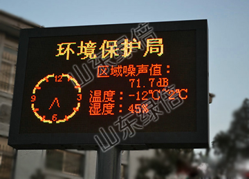 LED Environmental Monitoring Display