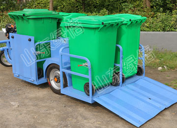 LB-BJ-C809 Electric Sanitary Garbage Truck With Four Barrels