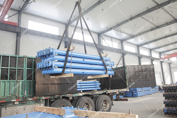 Shandong Lvbei  Sent Two Trucks Of Mine Single Hydraulic Props To Shanxi